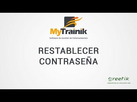 Restablecer contraseña de usuario en MyTrainik
