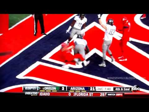 Pharaoh Brown 1-yard touchdown vs Arizona 2013 video.