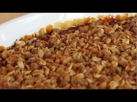 crisp - Learn how to make a Crispy Apple Crisp Recipe! - Visit http://foodwishes.blogspot.com/2012/02/crispiest-apple-crisp-ever-ever.html for the ingredients, more ...