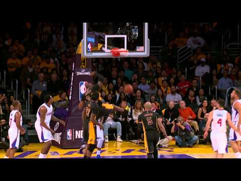 Video: Kobe Bryant Strikes with a 180-Degree Dunk