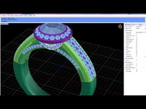 Demonstratie Matrix 7 � software CAD 3D pentru proiectare si design bijuterii