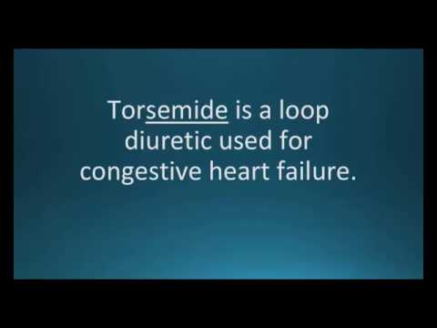 How to pronounce torsemide (Demadex) (Memorizing Pharmacology Video Flashcard)