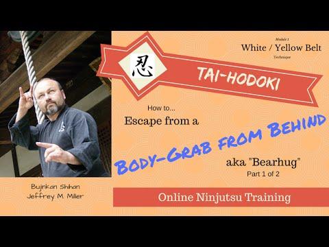 Ninjutsu Technique – Bearhug Defense Using a Kyojitsu Tenkan Tactic from Ninpo-Taijutsu (part 1)
