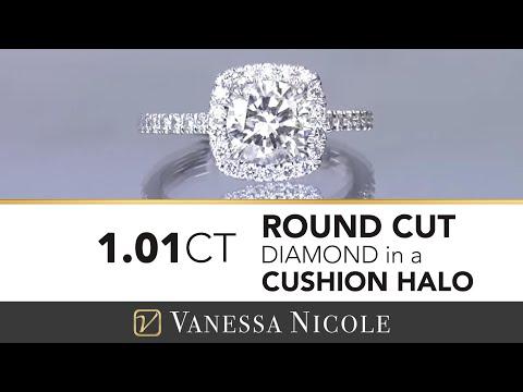 ROUND DIAMOND CUSHION HALO SETTING | Round Diamond & Cushion Halo Engagement Ring