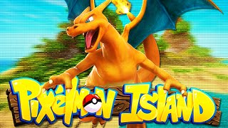 PIXELMON ISLAND SMP - Episode 1: A WILD CHARIZARD APPEARS! (Pokemon Mod)