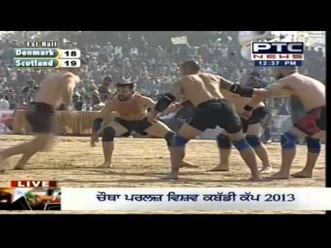 4th - Click & Subscribe to PTC News : http://bit.ly/IxmVxJ Denmark vs Scotland | Men's | Day 10 | Pearls 4th World Cup Kabaddi Punjab 2013 Denmark won the match (5...