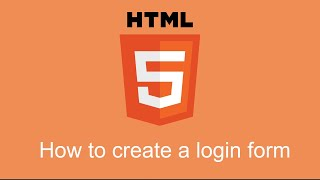 How to create a login form in HTML