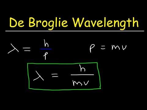 De Broglie Wavelength Problems In Chemistry