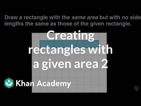 Creating Rectangles With A Given Area 2 Video Khan Academy