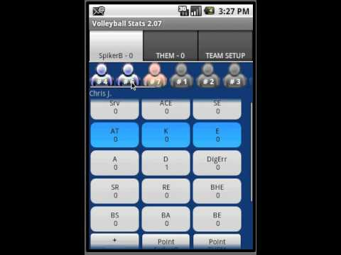 Video of Volleyball Stats