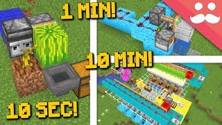 MINECRAFT FARMS: 10 Minute, 1 Minute, 10 Second!