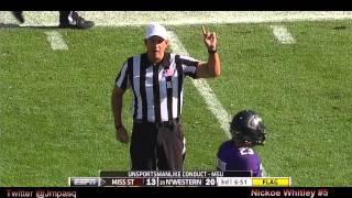 Nickoe Whitley vs Northwestern (2012 Bowl)