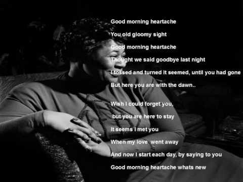 Tekst piosenki Ella Fitzgerald - Good Morning Heartache po polsku