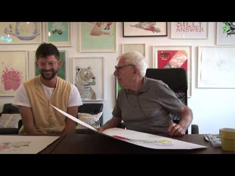 Serge Seidlitz meets Bob Gill at Print Club London