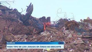 Marília: área para descarte de inertes continua recebendo todo tipo de lixo e prefeitura é multada