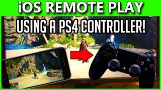 PlayStation 4 Remote Play On iOS | How To Play With PS4 CONTROLLER on iPhone & iPad! | 6.50 Update