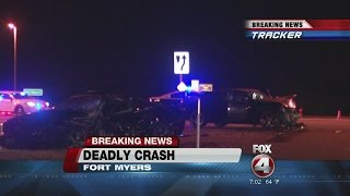 Deadly crash closes Fort Myers road overnight