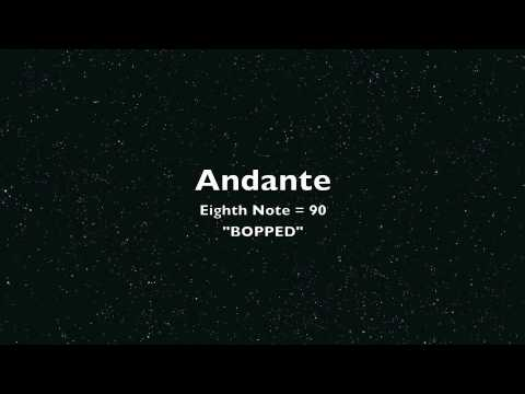 Andante, 8th Note = 90 BOPPED (CCISD JH Clarinet Region Music 2012)