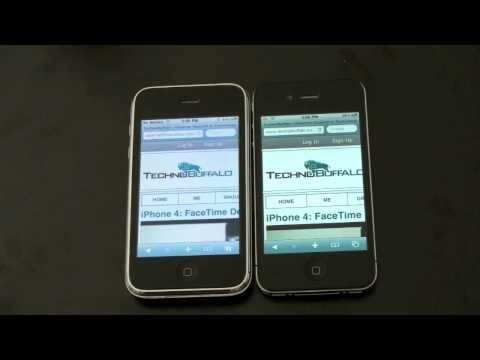 3Gs - iPhone 4 Vs. iPhone 3GS Other iPhone 4 Videos: iPhone 4 Unboxing: http://cuthut.com/q5i FaceTime Demo: http://cuthut.com/8iA iPhone 4 Retina Display: http://...
