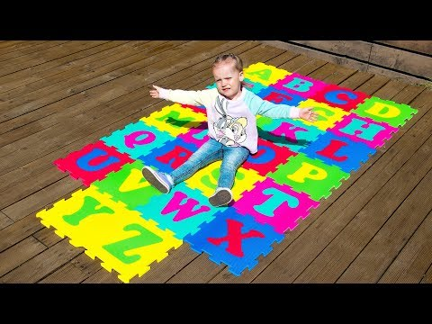 ABC Alphabet Phonics Nursery Rhymes Songs for Kids with Gaby and Alex