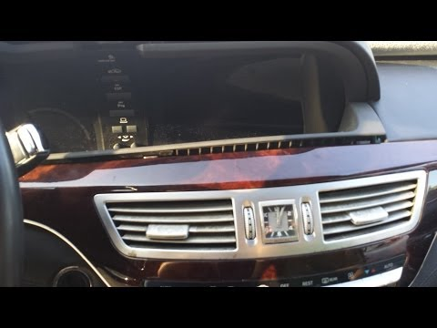 How to Remove Command / DVD / CD Changer from Mercedes S550 2007 for Repair.