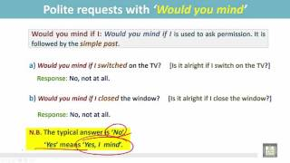 Video Grammar 3 | ch9 | Polite requests with 'Would you mind' MP3, 3GP, MP4, WEBM, AVI, FLV Januari 2018
