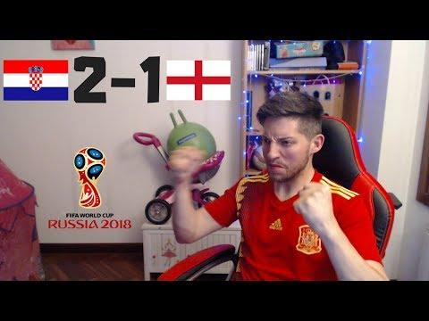 REACCIONES DE UN HINCHA Croacia VS Inglaterra 2-1 | Mundial Rusia 2018
