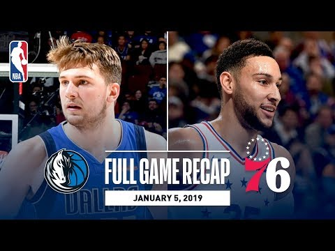 Video: Full Game Recap: Mavericks vs 76ers | Ben Simmons Records His 6th Triple-Double Of The Season