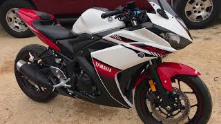 3. 2016 Yamaha YZF R3 Best Mods - Full Review and walk around with engine sound