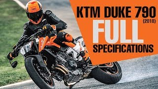 3. KTM Duke 790 2018 | Full Specifications