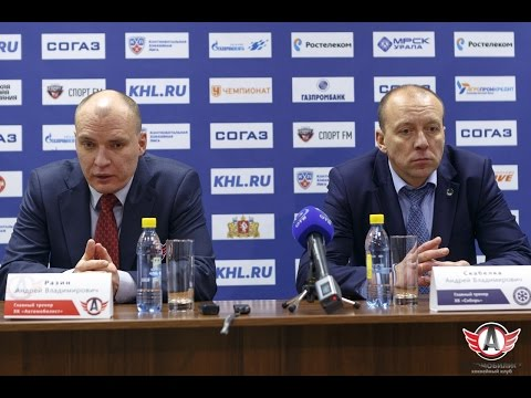 """Пресс-конференция - """"Автомобилист"""" 2:3 (Б) """"Сибирь"""" (4.10.15)"""