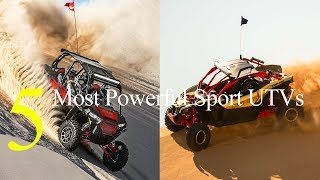 8. Top 5 Most Powerful Sport UTVs for 2018