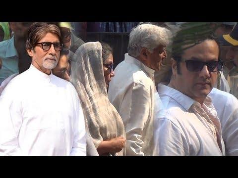 Sridevi Funeral : Amitabh Bachchan, Shabana Azmi And Fardeen Khan At Vile Parle Crematorium