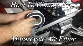9. How To Change The Air Filter On Your Motorcycle Yamaha FJR 1300 ES