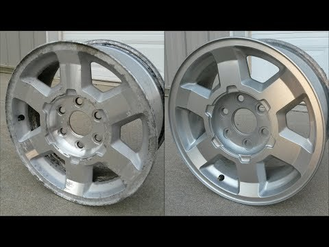 Pitted Aluminum Wheel Restoration/Painting - How To - 17