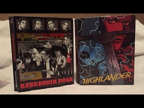 Reservoir Dogs & Highlander Mondo SteelBook Blu-ray Unboxings - Target Exclusive