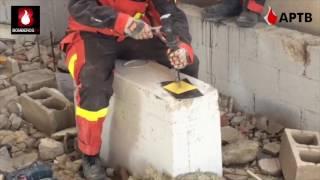Prácticas de desobstrucción con microexplosivos en entornos USAR de Bomberos Girecan