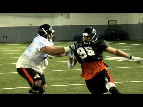 Freshmen Defensive End Scott Crichton video.