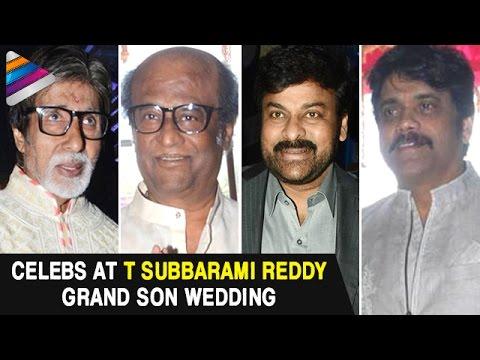 Celebs Hungama at T Subbarami Reddy Grand Son Keshav Wedding | Amitabh Bachchan | Rajinikanth