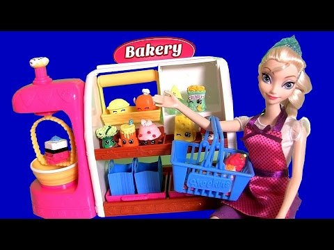Mix - DisneyCollector presents new unboxing video. Check out Queen Elsa visiting Shopkins Bakery Stand. Queen Elsa is wearing a Chef outfit from Barbie. Build up your ShopkinsWorld w/ the Spin Mix...