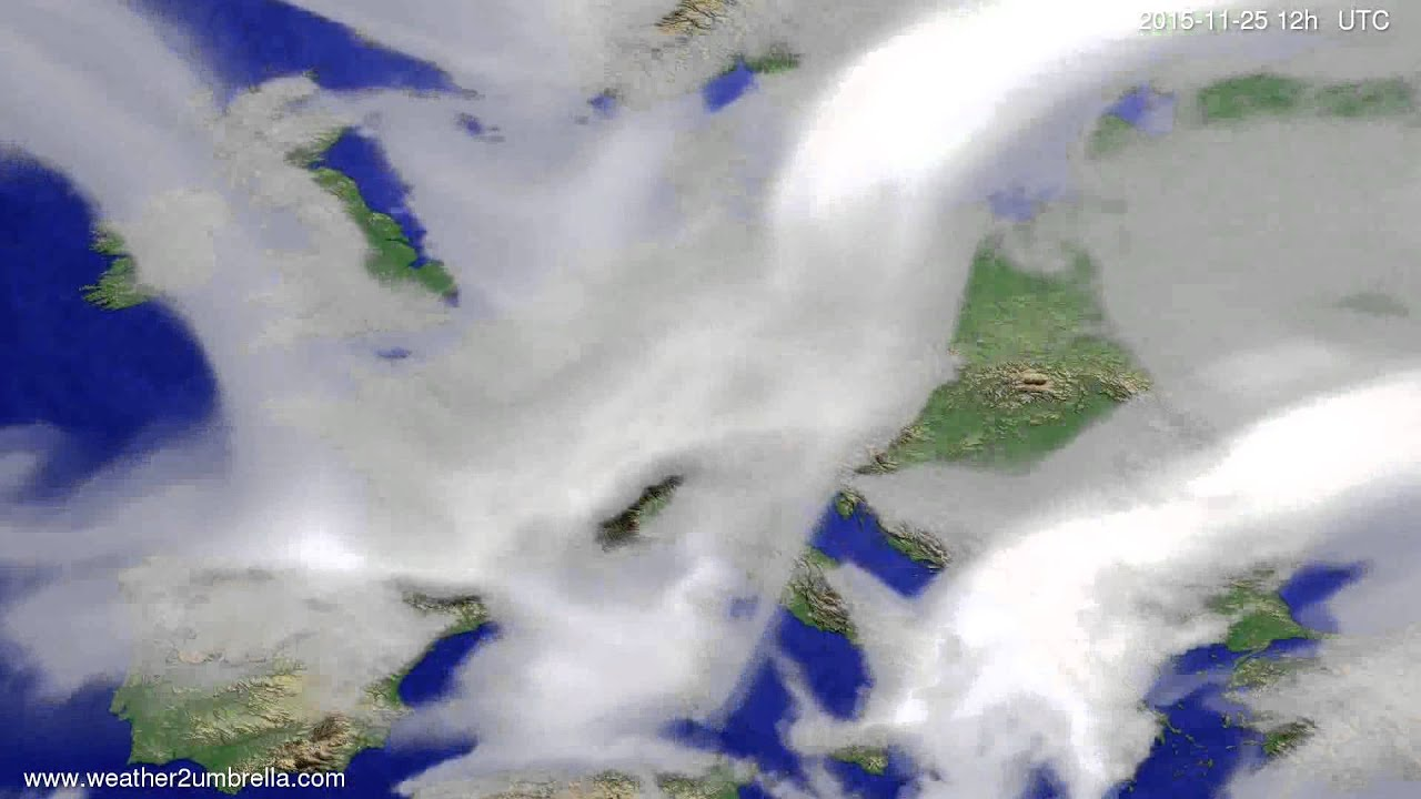 Cloud forecast Europe 2015-11-23