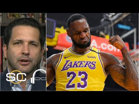 "Adam Schefter reacts to Los Angeles Lakers def. San Antonio Spurs: Lebron James ""shines"" 26 Pts"