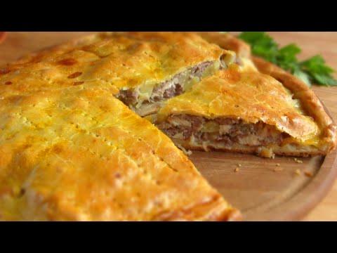 Вкусный пирог с картошкой и фаршем рецепт