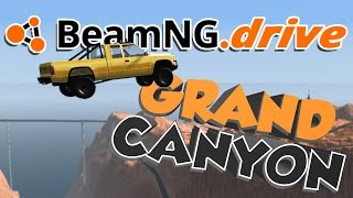 BeamNG.drive Gameplay - Grand Canyon Jump! - Let's Play BeamNG.drive
