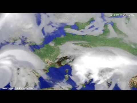 Cloud forecast Europe 2015-10-08