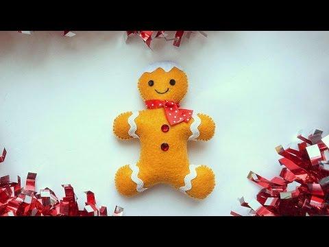 How To Make A Felt Gingerbread Man - DIY Crafts Tutorial - Guidecentral