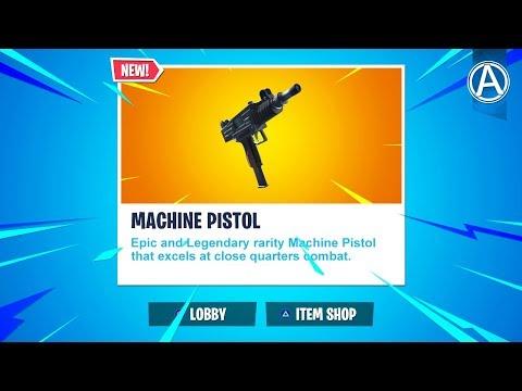 "NEW ""MACHINE PISTOL"" Update! // Pro Console Player // 1600+ Wins (Fortnite Battle Royale LIVE)"