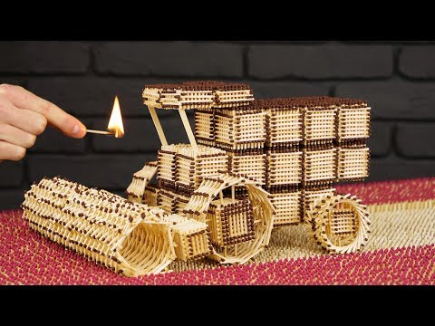 Download How to Build Combine Harvester from Matches Without Glue