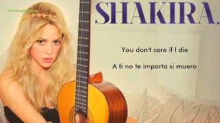 Shakira - You Don't Care About Me (Lyrics) (Letra Traducida al Español)