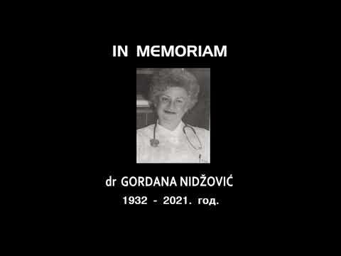 IN MEMORIAM- ПРИМ. ДР ГОРДАНА ЕРИЋ НИЏОВИЋ